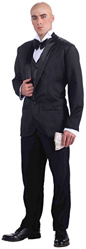 Forum Novelties Men's Daddy Warbucks Costume, Black, -