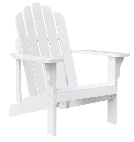 Shine Company Marina Adirondack Chair, White by Shine Company Inc.