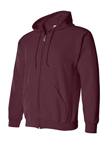 Gildan mens Heavy Blend 8 oz. 50/50 Full-Zip Hood(G186)-MAROON-XL