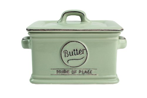 T&G Woodware Pride of Place Old Green Butter Dish 18000 by T&G Woodware