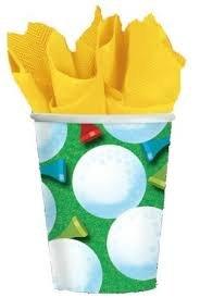 Golf 9oz Paper Cups Case Pack 8