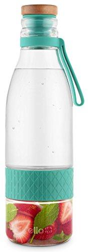 Ello Zest Glass Water Infuser with Leak-Proof Lid| 20 oz | Mint