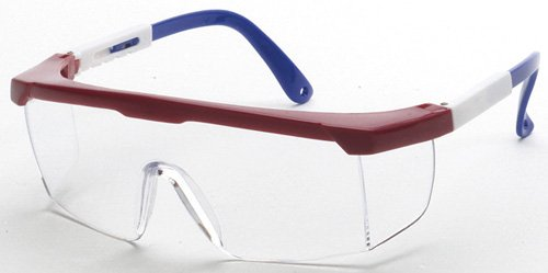 Liberty ProVizGard Guardian Protective Eyewear, Clear Lens, Red/White/Blue Frame (Case of 12 Pairs) -