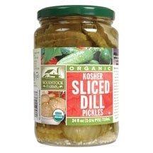 Organic Dill Pickles - Woodstock Pickles Dill Kshr Slcd Or 24Oz