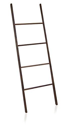 MV Acacia Natural Wood Standing Towel Rack Ladder for Bathroom Spa Towel Hanger