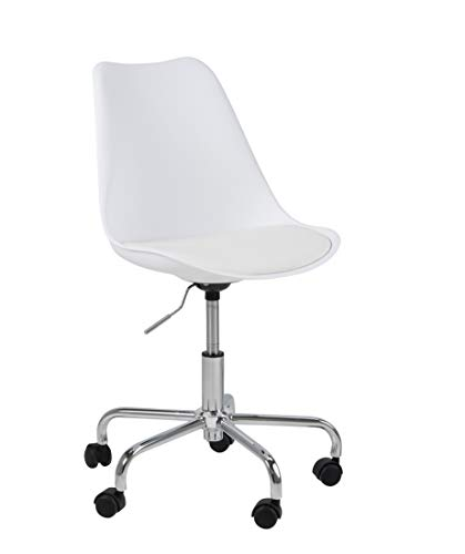 Amazon Brand - Movian Arendsee - Silla de escritorio, 55 x 55 x 93 cm, blanco