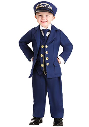 North Pole Train Conductor Costume Toddler 2T Blue
