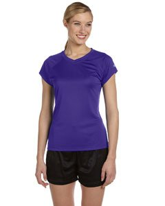 - Champion Women's Essential Double Dry V-Neck Tee