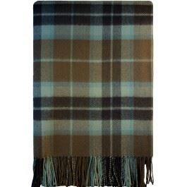 Hunting Weathered Wool - Thomson Hunting Brown Weathered Tartan Lambswool Blanket