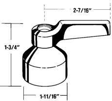 0.277 x 0.277 x 0.277 0.277 x 0.277 x 0.277 Kohler Company Kohler K-52936-CP Pair Triton Lever Handles