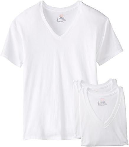 Hanes Men's 3-Pack V-Neck T-Shirt