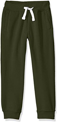 (Southpole Little Boys' Active Basic Jogger Fleece Pants, Olive, Large)