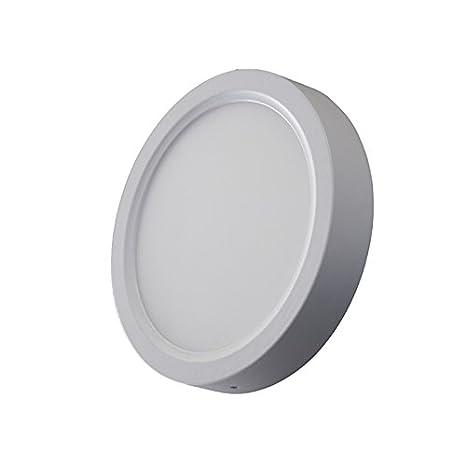 Plafón Redondo LED ø220mm x H35mm 18W Con Sensor de Movimiento 1450Lm Luz Blanco frío 6000k