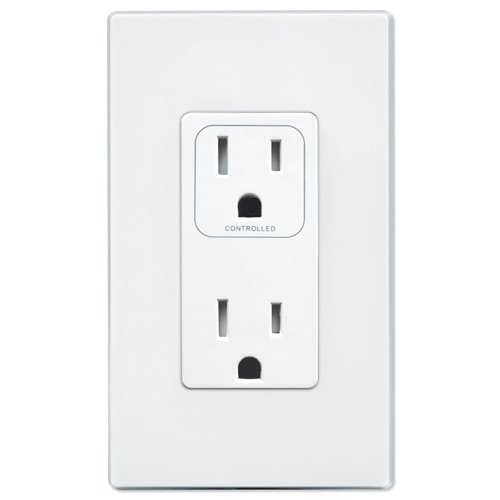 PCS SimpleWorx Split Duplex Wall Receptacle, White