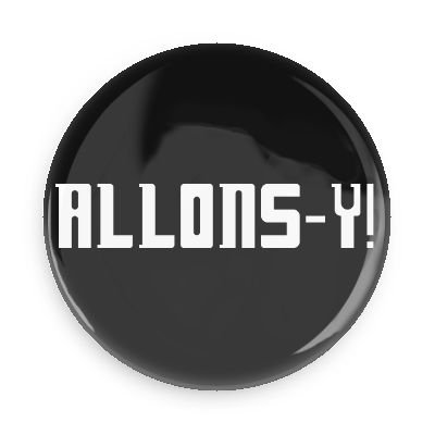 Doctor Who Allons-y 3.0 Inch Fridge Magnet