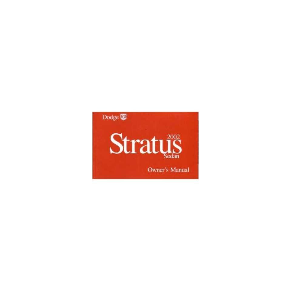 2002 DODGE STRATUS Owners Manual User Guide