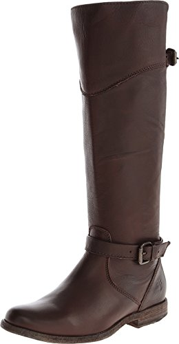 Distressed Leather Riding Boots - 3