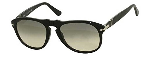 Persol PO649 Sunglasses 95/32 Shiny Black frame with Gray Gradient lenses (Gradient Lens Shiny Black Frame)