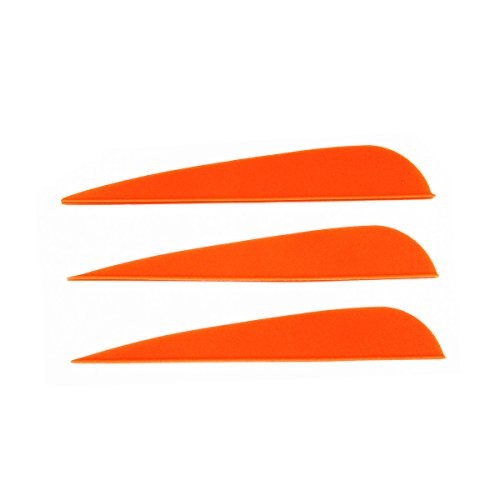 (Letszhu Arrows Vanes 4 Inch Plastic Feather Fletching for DIY Archery Arrows 50 Pack (Orange) )