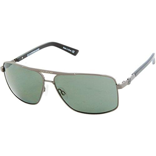VonZipper Metal Stache Polarized Square Sunglasses,Charcoal & Gloss,One - Stache Sunglasses