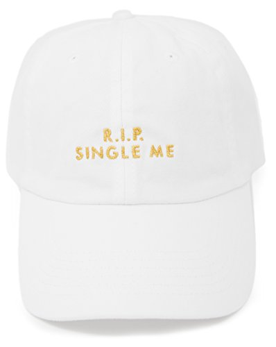 5aad600ddd7 Bachelorette Party Hats - Rip Single Me and Rip Sober Me Bridal Party Hats  (White Rip Single Me, 1)