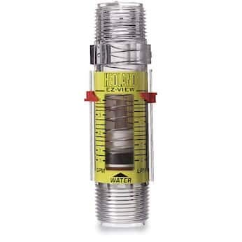 (Hedland H621-604 EZ-View Flowmeter With Sensor, Polysulfone, For Use With Water, 0.5 - 4 gpm Flow Range, 1