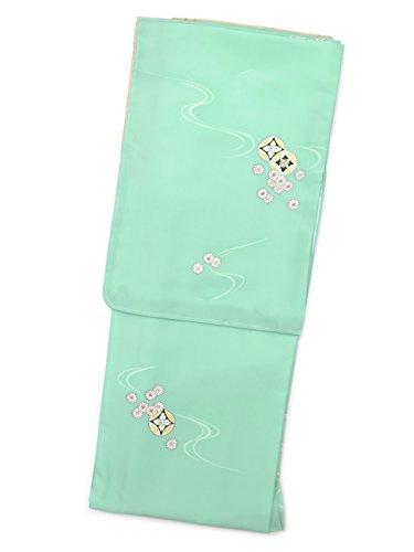 余裕がある保安マオリ洗える着物 袷 小紋 レディース RKブランドの着物 Sサイズ 「ミントグリーン 七宝に菊」RKAS2319