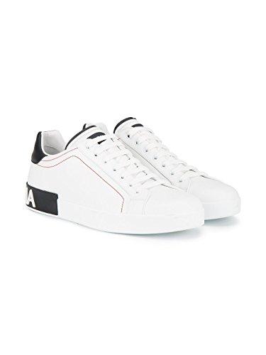Dolce & Gabbana Hombre CS1587AH52689697 Blanco/Negro Cuero Zapatillas