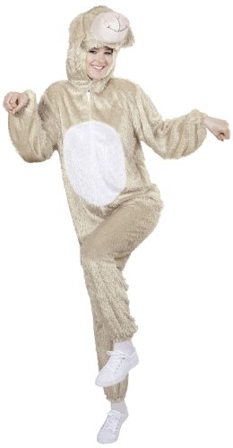 Plush Lamb (m) (hooded Jumpsuit With Mask) -