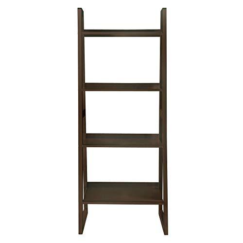 (Briarwood Home Decor Wood Ladder-Style Bookcase Espresso Espresso)