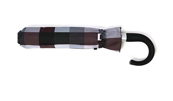 Paraguas Vogue Plegable de Apertura automática, antiviento y con Acabado Teflón. Estampado a Cuadros.: Amazon.es: Equipaje