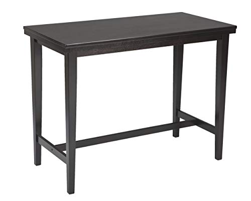 - Ashley Furniture Signature Design - Kimonte Dining Room Table - Counter Height - Rectangular - Dark Brown