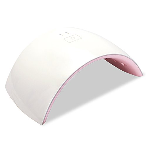 Nail Dryer, SOONHUA 24W LED&UV Nail Polish Lamp All Gels Curing with 36s/60s Timer for Finger& Toe Nail Art Home Nail Salon(Pink)