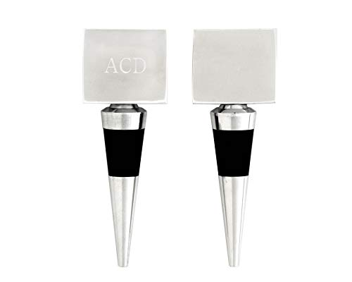 Arthur Court Designs Aluminum Engravable Square Bottle Stopper (Square Wine Bottle Stopper)