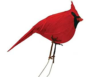 12 Bright Red Cardinal Birds With Attached Wires