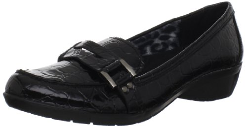 Alligator Shoes Adult (Bella Vita Women's Tatum II Loafer,Black Patent Croco,7.5 M US)