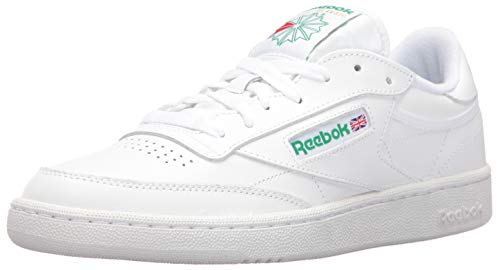 Reebok Men's Club C 85 Walking Shoe, White/Green, 8.5 M US