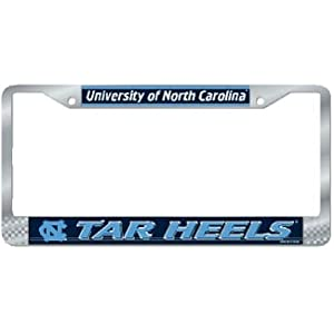 North Carolina Tar Heels Official NCAA 12 inch x 6 inch Metal License Plate Frame by Wincraft