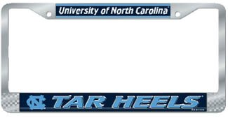 Tar Heels Logo License Plate (WinCraft North Carolina Tar Heels Official NCAA 12 inch x 6 inch Metal License Plate Frame by 215550)