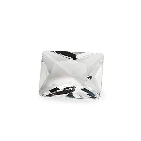 Item Diameter: 10x12mm 100pcs Calvas 100PCS 2x3~13x18mm Rectangle Shape Loose Stone Brilliant Cut White Color Glass gems Beads for Jewelry DIY Stone