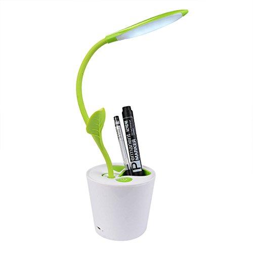 Skr LED Bäumchen Schreibtischlampe mit Stifthalter Augenschutz 3 Helligkeitsstufen Touch Sensor Dimmbar und Ein-/Aus-Schalten für Kinder oder Büroarbeiten
