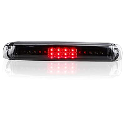 Sanzitop LED 3rd Brake Light Rear Third Brake Light High Mount Stop Light Cargo Lamp Fit fit 1999-2006 Chevy Silverado GMC Sierra 5978318 (Black Housing Clear Lens): Automotive