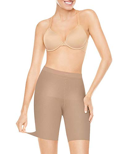 SPANX Assets Red Hot Label Firm Control Mid-Thigh Shaper, 4, Barest Bare (Red Hot Label By Spanx High Waisted Leggings)