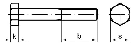 5 Stk Sechskantschraube mit Schaft DIN 931 8.8 M8 x 170