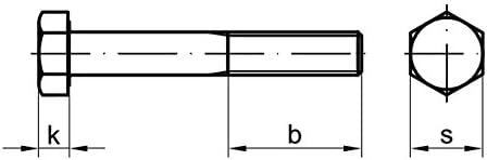 10 Stk Sechskantschraube mit Schaft DIN 931 10.9 M10 x 60 verzinkt