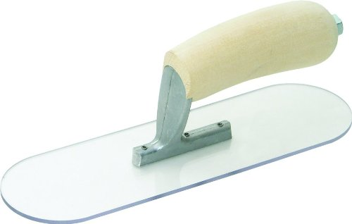 MARSHALLTOWN The Premier Line PSP14 14-Inch by 4-Inch Plastic Pool Trowel with Curved Wood Handle (Trowel Curved)