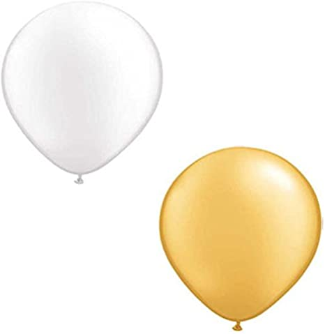 50 100 Luftballons Ø 28 cm Rosegold Weiß Metallic Glänzend Helium Ballons