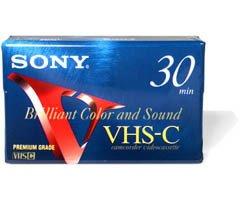 Sony Premium-Grade VHS-C 30-Minute Videocassette - Single