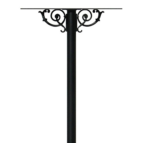 The Hanford Cast Aluminum Quad Mailbox Post System Base with Scroll Supports , Mailboxes Sold Separately, Ships in 3 boxes