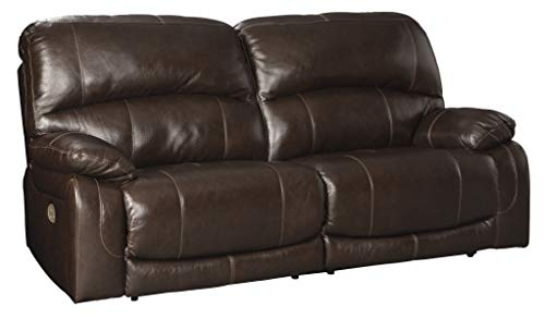 - Signature Design by Ashley U5240247 Hallstrung Power Reclining Sofa, Chocolate